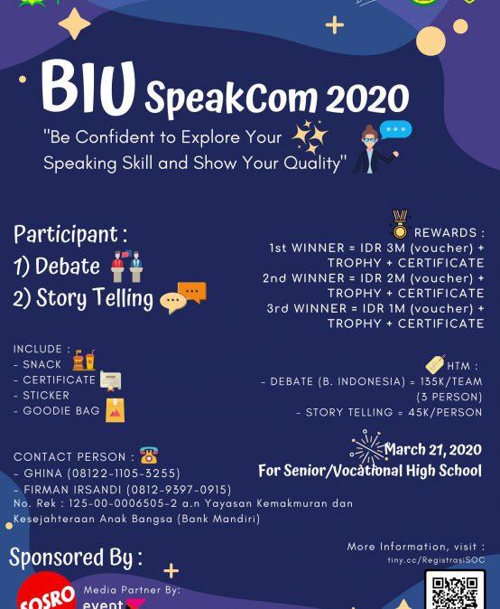 BiU SpeakCom 2020