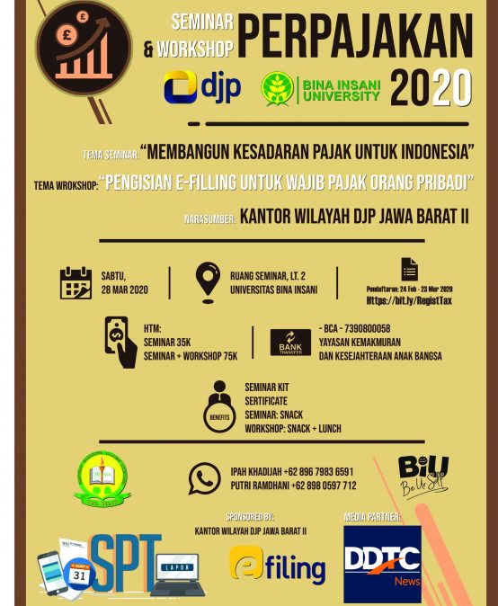 Seminar & Workshop Perpajakan 2020